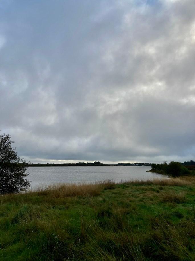 Grey skies over Fannyside Lochs