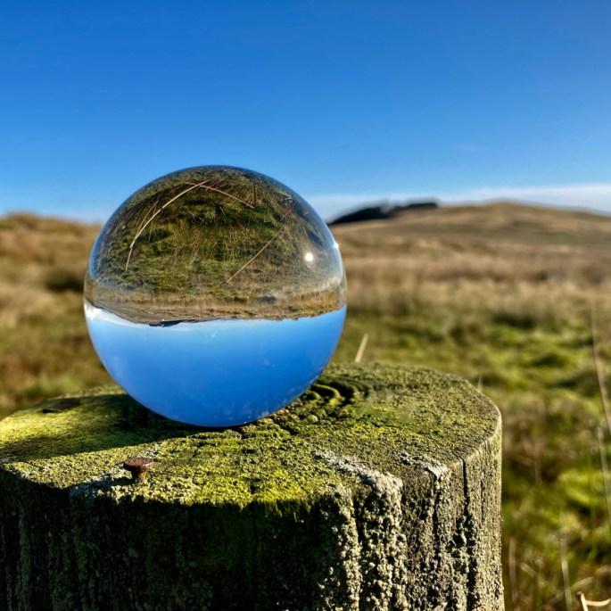 Lensball landscape