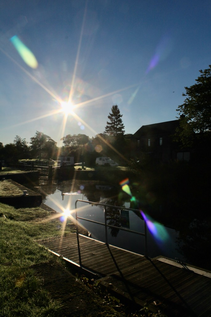 Sunburst & its reflection in the Forth & Clyde Canal