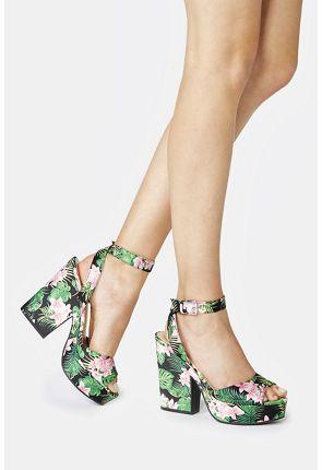 Niki Platform Heeled Sandal