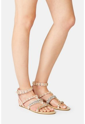 Roksanda Jeweled Flat Sandal