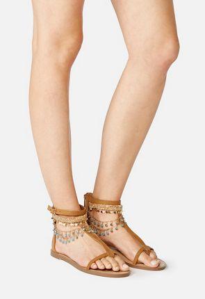Whynna Jeweled Flat Sandal