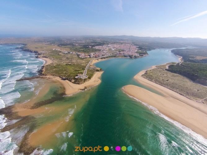 Vista aérea de Vila Nova de Milfontes