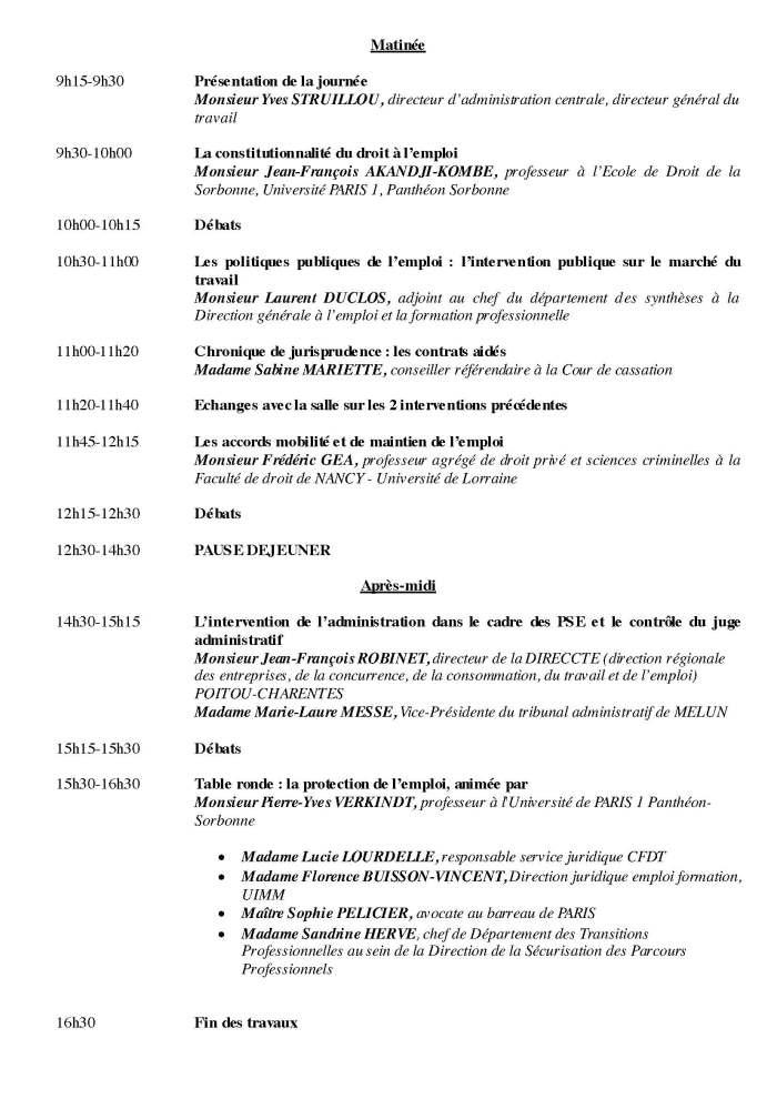 Colloque Droit du travail ENM INTERP AFDT - La protection de l'emploi - Le programme _Page_2