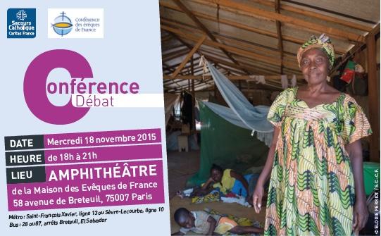 Agenda Centrafrique : le 18 nov. 2015 — Conférence-débat sur les conditions d'une paix durable