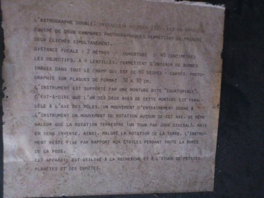 Description de l'astrographe