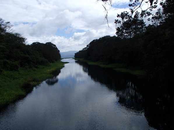 The river leading to the lake