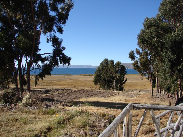 View of Lake Titicaca from our hotel room.