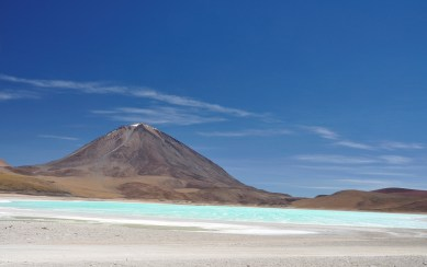 Arsenic filled lagoon, hence no wildlife but a pretty colour
