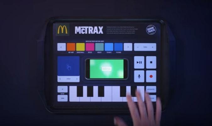 McDonalds publicité napperon