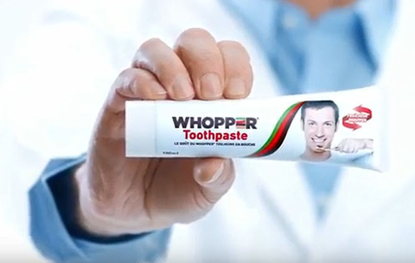 Burger King lance un dentifrice à saveur de Whopper