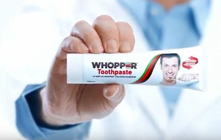 Read more about the article Burger King lance un dentifrice à saveur de Whopper