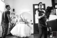 Preparação da noiva no salão Malloni Hair