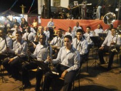 Corpo musical da S.E. Monte Castelo. Foto: Felipe Reis