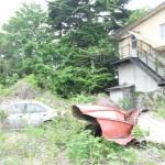 福島第一原発から約5キロ離れた大熊町のとある旧宿舎。建設会社の宿舎であろうと思われる/2016年5月24日