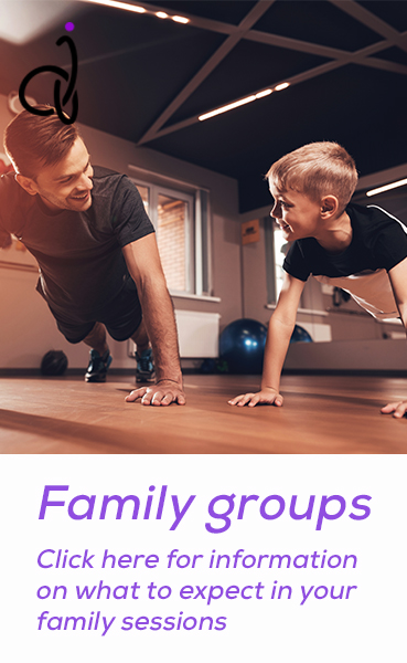 Family groups. Click here for information on what to expect in your family sessions.