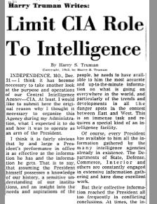 Truman v CIA