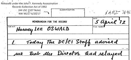 Angleton on Oswald