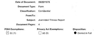 Joannides fitness report