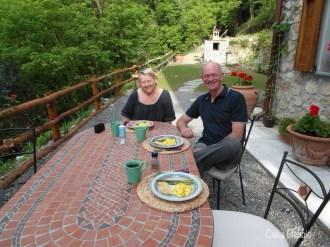 With Debra up at Casa Debbio