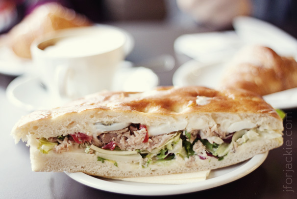 09 June 2013 - Pasticceria Marcello tuna sandwich