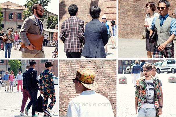 20 June 2013 - pittiuomo 84 streetwear men patterns