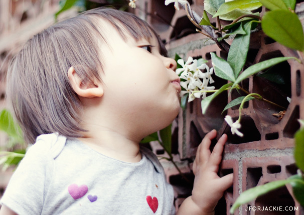 01 July 2013 - Smelling Flowers