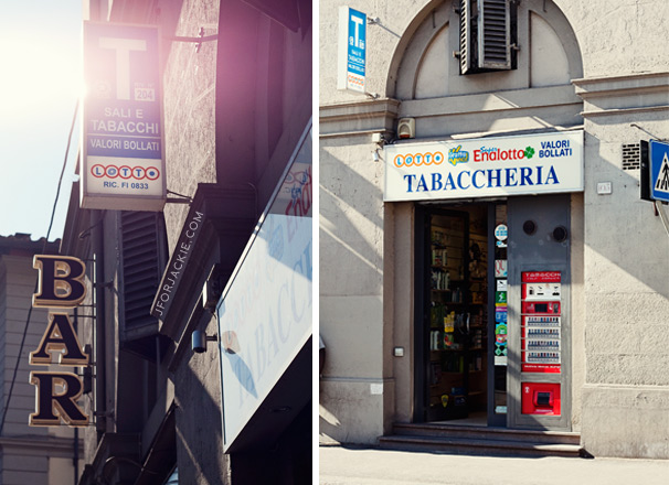 22 July 2013 - Tabacchi shop in Italy