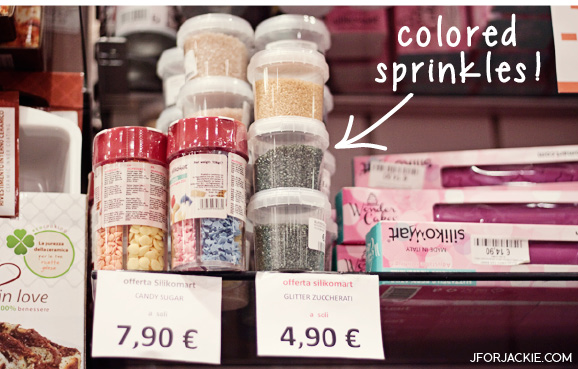 Colored Sprinkles in Florence