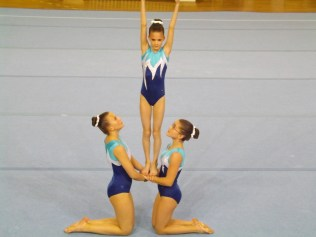 Hannah's first competition with a trio
