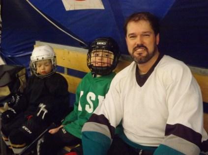 Father-sons hockey night!