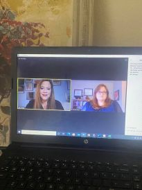 photo of JFS staff talking on a recent online presentation