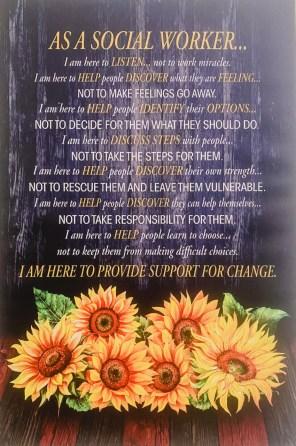 Words describing social worker's job