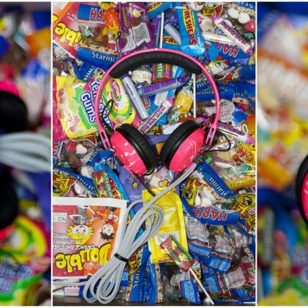 Custom Cans Sennheiser HD25 DJ Headphones in Neon UV Pink with White Splatter (2 year warranty)