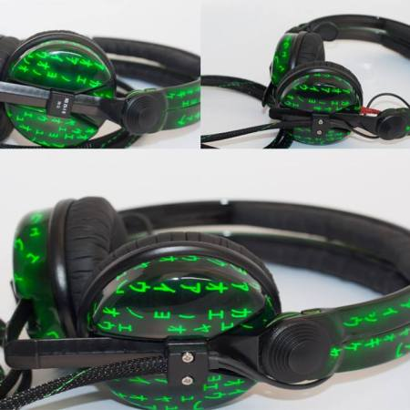 Custom Cans Matrix Code style Sennheiser HD25 DJ Headphones with 2 year warranty
