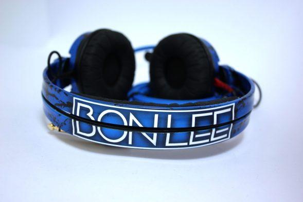 Customise splatter pattern Sennheiser HD25 DJ Headphones with your name -2760