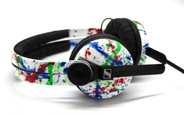 Customise splatter pattern Sennheiser HD25 DJ Headphones with your name -2773