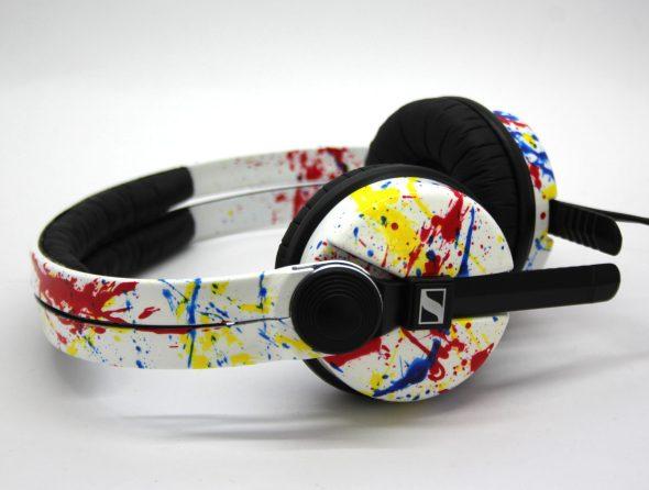 Customise splatter pattern Sennheiser HD25 DJ Headphones with your name -2776