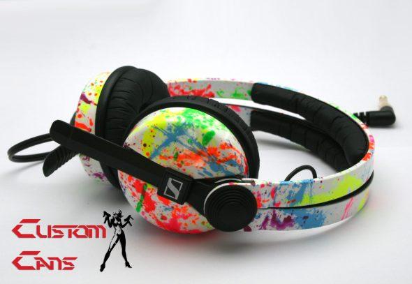Customise splatter pattern Sennheiser HD25 DJ Headphones with your name -2691