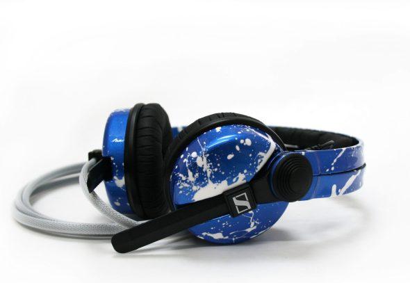 Customise splatter pattern Sennheiser HD25 DJ Headphones with your name -2690