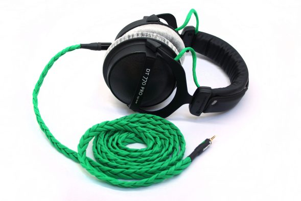 Custom Cans Uber DT770 headphones with modified drivers and detachable balanced litz cable (PonoPlayer, XLR, A&K, Onkyo, Sony PHA-3)-0
