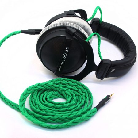 Custom Cans Uber DT770 headphones with modified drivers and detachable balanced litz cable (PonoPlayer, XLR, A&K, Onkyo, Sony PHA-3)