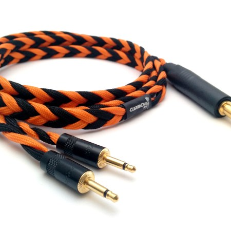 Ultra-low capacitance headphone cable with 3.5mm mono jacks (Focal Elear, Focal Clear)