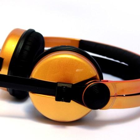 Custom Cans Sennheiser HD25 Monarch Gold Customised DJ Headphones-0