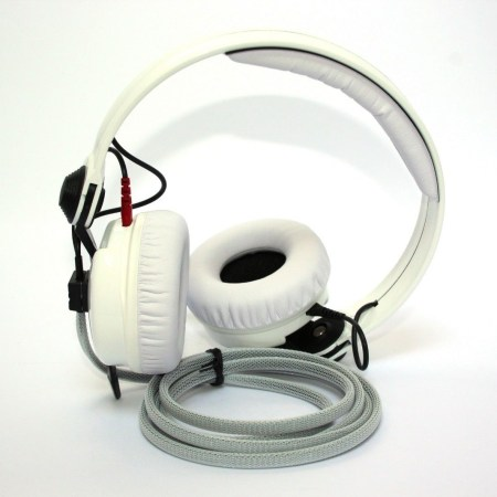Custom Cans White Protein Leather Pads for Sennheiser HD25 Replacement Parts