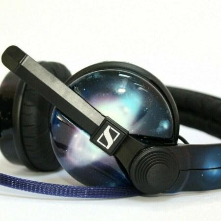 Custom Cans Nebula Starry Sky Cosmos sennheiser HD25 DJ Headphones 2yr warranty