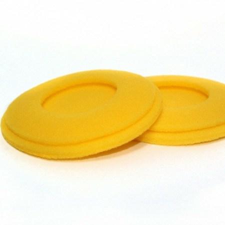 Original Sennheiser HD424 Yellow Foam Ear Pads for HD 424 – Set of 2 (019543)
