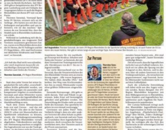 Zeitungsbericht über den JFV im Südkurier