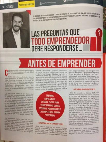 Revista El Clavo - Artículo de Juan Fernando Zuluaga - Septiembre de 2014