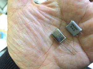 CAL51MHz化にともない水晶も交換